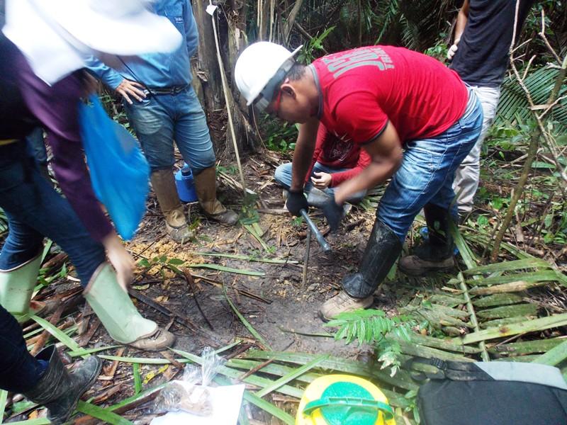 Alunos de Agronomia realizam levantamento de solos da fazenda da Ufopa