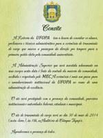 Reitoria da UFOPA convida para transmissão de cargo