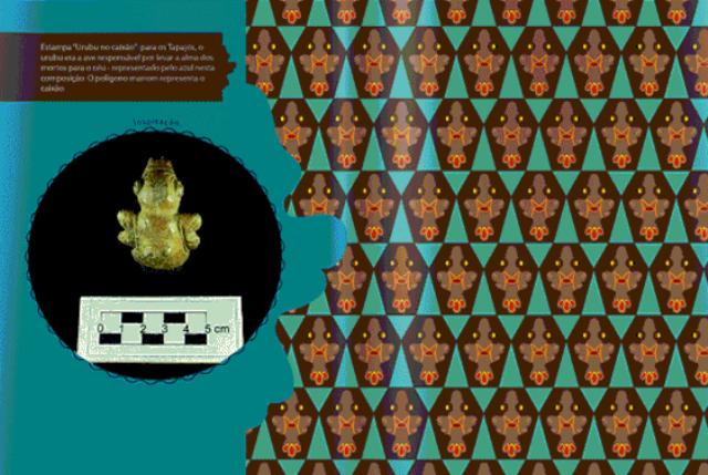 Estampas em tecido inspiradas na arte tapajônica em exposição no SESC Santarém